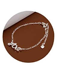 DUMAN Fashion Jewellery Ankle Chain Silver Plated Love Anklet Bracelet Adjustable Valentine Gifts