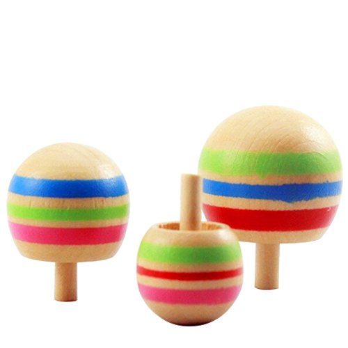 boutique1583-3-Pcs-Wooden-Inverted-Spinning-Gyro-Childrens-Funny-Toy
