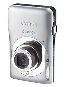 Canon IXUS 105 Digitalkamera (12 Megapixel, 4-fach opt. Zoom, 6.9 cm (2.7 Zoll) Display, bildstabilisiert) silber