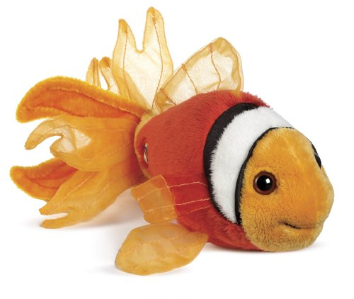 Lil'Kinz Mini Fish Stuffed Animal Tomato Clown Fish
