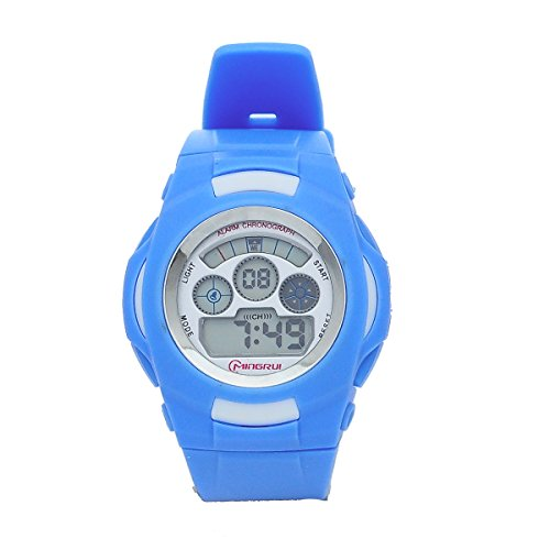 8Years- 1 Stueck Digitaluhr Armbanduhr Stoppuhr Watch Outdoor Wasserdicht Marineblau