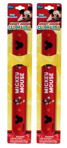 Sold In 12 Pieces - New Disney Mickey Mouse Slap Bracelets Bands Toys Perfect For Birthday Party Favor Goodie Bags front-583532