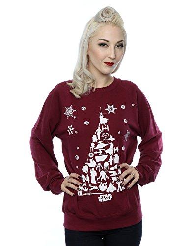 Star Wars Donna Christmas Tree Felpa Small Borgogna