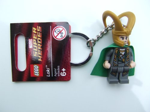 41Qf1qWpI9L Cheap  LEGO Loki Key Chain 850529 Marvel Super Heroes Mini Figure Keychain