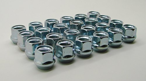 White Knight 1307-1S-20AM 12mm x 1.50 Thread Size Open End Bulge Acorn Lug Nut Zinc 20-Pack