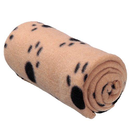 FOCUSPET-Tier-Fleece-Decke-Matte-Hundedecke-Kuscheldecke-Liegedecke-Katze-Hunde-60x70cm-Braunschwarze-Kralle