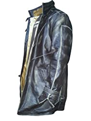 Aiden Pearce Watch Dogs Trench Black Distressed CowHide Leather