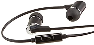 AmazonBasics In-Ear Headphones with Microphone (Tangle-Free Cable)