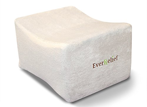EverRelief Side Sleeper Leg & Knee Pillow ★Therapeutic Memory Foam Support