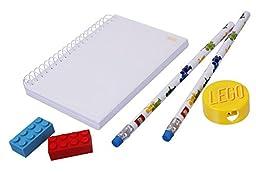 LEGO Eraser, Sharpener, Pens and Notepad Bundle (6 Pieces)