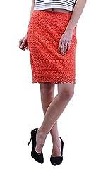 MERCH21 Women's Regular Fit Skirt (MERCH-392-RED, Red, XL)
