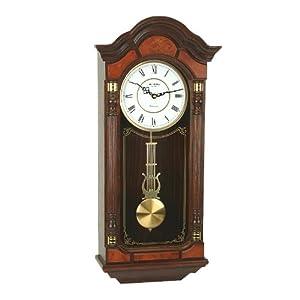 Wm Widdop Roman Dial Wood Pendulum Wall Clock