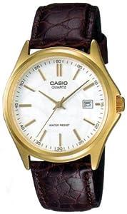 Casio MTP-1183Q-7A - Reloj analógico de cuarzo para hombre, correa de cuero color marrón de Casio