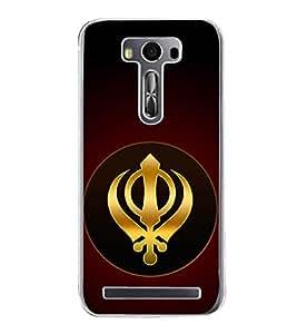 Khanda Sahab 2D Hard Polycarbonate Designer Back Case Cover for Asus Zenfone 2 Laser ZE550KL (5.5 INCHES)