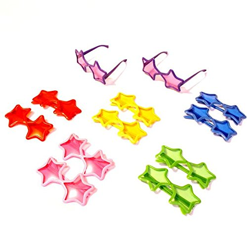 Dazzling Toys Star Shaped Sunglasses - Pack of 12 (D143)