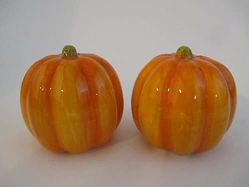Ceramic Pumpkin Salt and Pepper Shakers