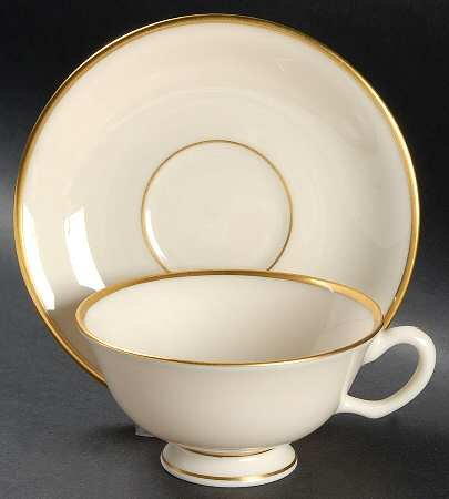 Lenox Mansfield Footed Cup & Saucer Set