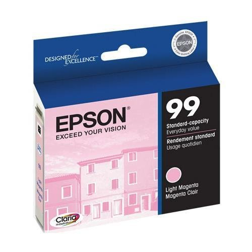 Epson T099620 OEM Ink - (99) Artisan 700 710 725 730 800 810 835 837 Claria Hi-Definition Light Magenta Ink OEM (Epson 99 Ink Magenta compare prices)