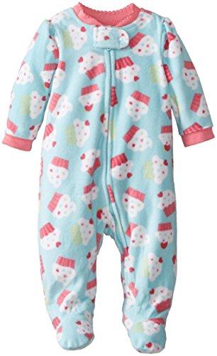 Little Me Baby-Girls Newborn Cupcake Blanket Sleeper, Blue Multi, 3 Months front-922054