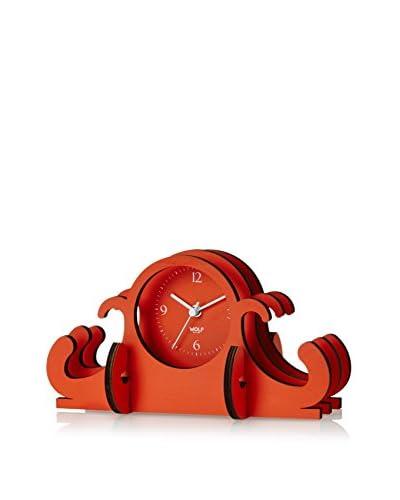 Wolf Designs Jigsaw Mantel Clock, Orange