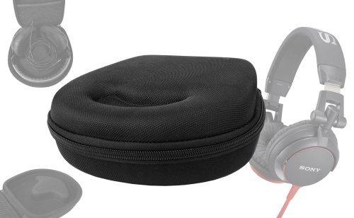 Duragadget Hard Eva Small Storage Case For Headphones / Earbuds For Sony: Mdr-1R, Mdr-1Rnc, Mdrzx100W, Mdrzx100B Dj, Mdr-Rf810Rk, Mdr-Zx300B, Mdr-V55R, Mdr-Zx100P, Mdr-Zx100B, Mdr-Zx100W, Mdr-Zx300R, Mdr-Zx310L / Mdr-Zx310R, Mdr-Xb400B, Mdr-Zx600L, Mdr-Zx