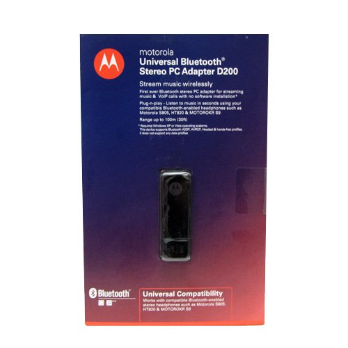Motorola Cfln7621Aa Universal Bluetooth Usb Stereo Pc Adapter Dongle D200