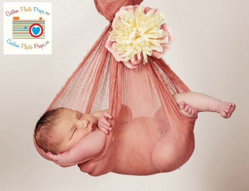 6 Ft Long Canyon Cheesecloth Newborn Photography Props (Swaddling And Hanging Videos) Newborn Photo Props, Baby Photo Props, Baby Wrap Props front-218036