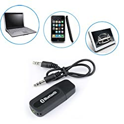BestDealUSA USB Bluetooth 3.5mm Stereo Audio Music Receiver Adapter for Speaker iPhone Mp3