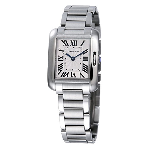 Cartier Women's Tank Anglaise Steel Bracelet & Case Quartz Silver-Tone Dial Analog Watch W5310022