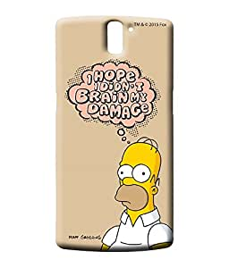 Simpsons - Brain Humour - Case For Oneplus One