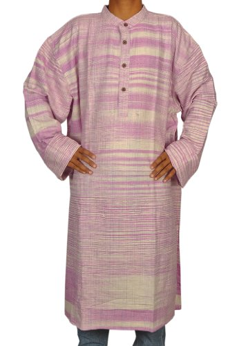 Mens Casual Cotton Khadi Long Kurta Fabric For Winter & Summer Size-8XL