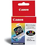Canon BCI11 - BCI-11CLR Ink Tank, 80 Page Yield, Cyan, Magenta, Yellow, 3/Pack