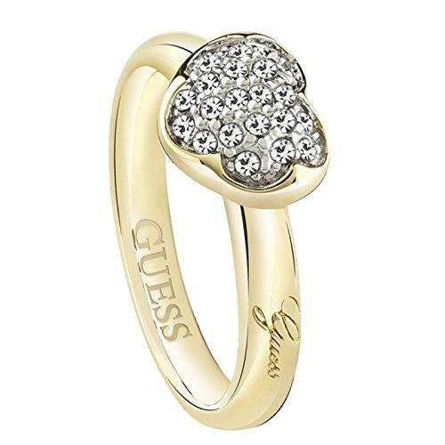 Guess Damen-Ring HEARTSHELTER Kristall weiß Gr. 56 (17.8)-UBR72502-56 thumbnail