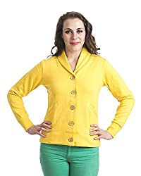 Finesse Women's Winter Fleece Coat (FYJ08_XXXL, Yellow, XXXL)