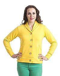 Finesse Women's Winter Fleece Coat (FYJ08_s, Yellow, Small)