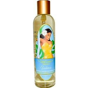 Island Essence Massage Oil, 8 Ounce, Gardenia