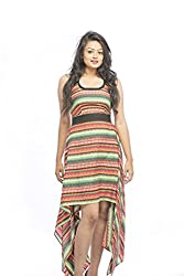 Pinwheel Women's Poly Crepe Dress (Pwss15D060_Multi_Small)