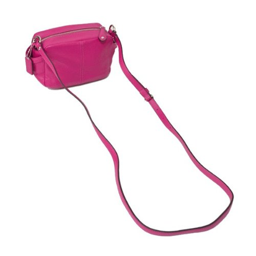 Coach   Coach 25150 Campbell Fuchsia Pink Leather Camera Cross-body bag
