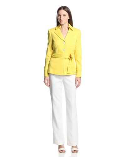 Tahari by ASL Women's Belted Pant Suit
