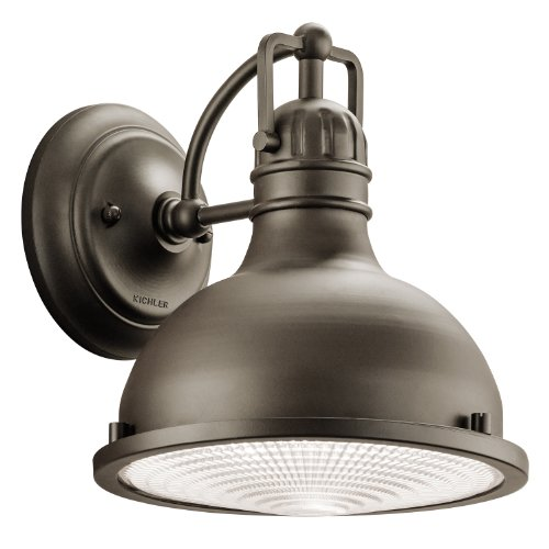 49065OZ Hatteras Bay 1-Light 10-Inch Outdoor Wall Mount, Old Bronze Finish with Fresnel Glass Diffuser