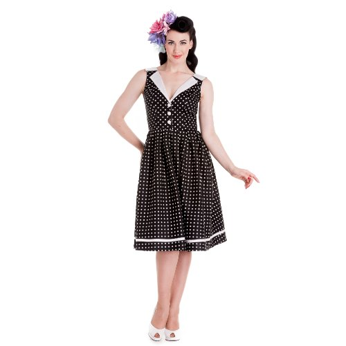 Hell Bunny dell'abito KAREN DRESS black nero 40/42