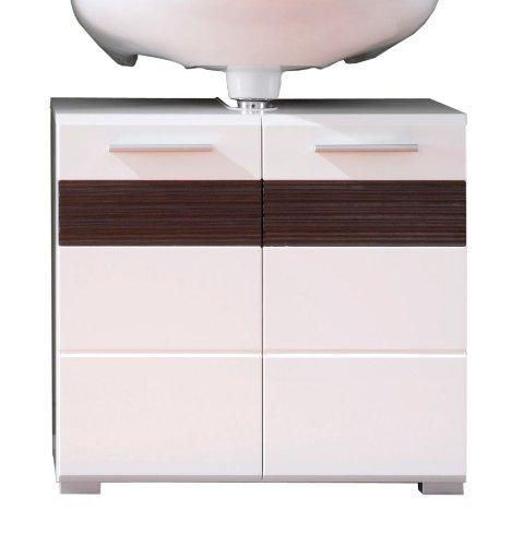 Trendteam Waschbeckenunterschrank, Weiß Hochglanz