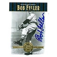 Bob Feller Autographed Hand Signed Baseball Card (Cleveland Indians) 2001 Upper Deck...