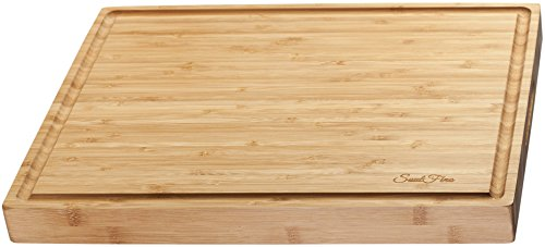 BEST Large Bamboo Cutting Board & Serving Tray (17