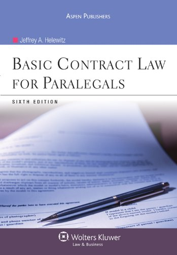 Basic Contract Law for Paralegals, Sixth Edition