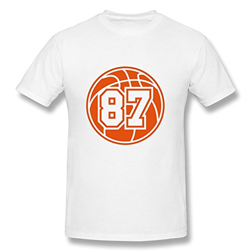 87 Basketball 1 Color Tas Printing Machine 100% Cotton Tees For Guy front-633331