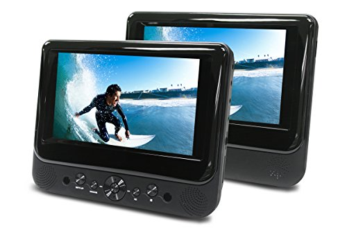 Ematic ED717 7-Inch Dual Screen Portable DVD Player (Black)