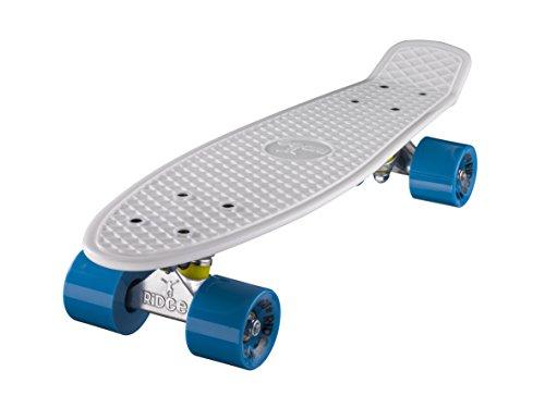 ridge-mini-cruiser-skate-skateboard-retro-22-completo-nel-bianco-fatto-in-lue-cuscinetti-abec-7-alta