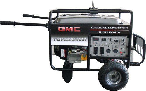 GMC YUKON 6,000 Watt 13 HP 389cc 4-Stroke OHV Gas Powered Portable Generator with Wireless Remote Electric Start