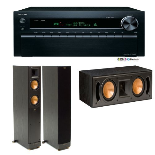 Onkyo Tx-Nr828 7.2-Channel Wireless Network A/V Receiver Plus (1) Pair Of Klipsch Rf52 Ii Tower Speakers & (1) Klipsch Rc52 Ii Center Channel Speaker